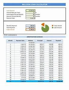 Excel Home Loan Calculator Balloon Loan Payment Calculator Excel Templates