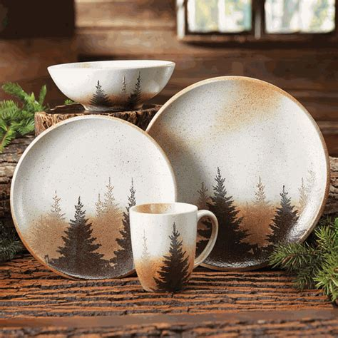 pinewood forest dinnerware  pcs