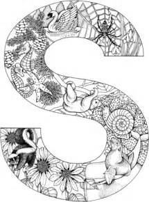 Letter S With Animals Coloring Page Free Printable