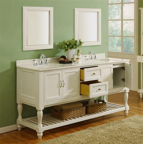 pearl white mission double bathroom vanity sink