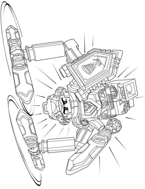 Kleurplaten Nexo Knights Clay by Clay From Lego Nexo Knights Free Coloring Page Fyrir
