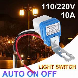 2pcs Waterproof 10a Automatic On  Off Road Light Switch