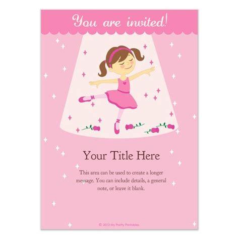 5th birthday invitation card template free ballerina birthday invitations templates pingg
