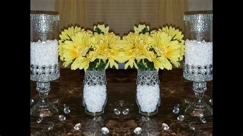 dollar tree diy upgraded bedazzled candleholders wedding