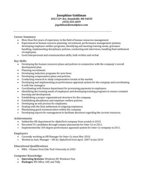 Human Resources Assistant Duties Resume by Curriculum Vitae Curriculum Vitae Sles Human Resources