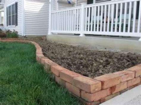 Make A Garden Border Out Of Old Bricks!