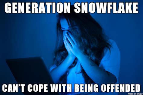 Snowflake Memes - snowflake generation insult of the year my new old self