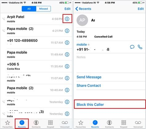 how do you block a number on iphone block call and text in ios 9 iphone how to