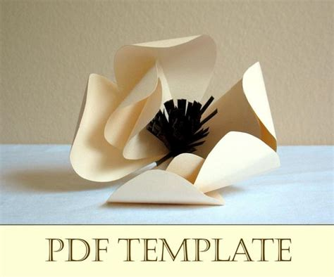 magnolia paper flower printable  instructions
