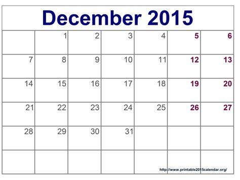 2015 Printable Calendars 8 Best Images Of December 2015 Calendar Printable Template