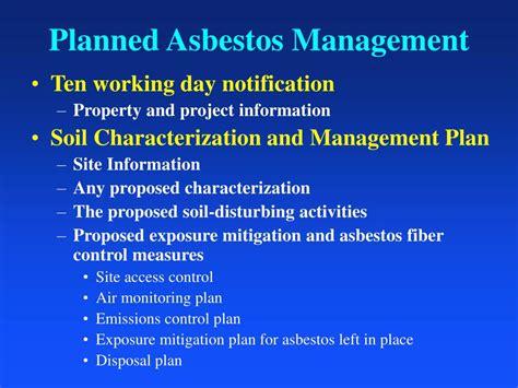 asbestos contaminated soil regulations  colorado