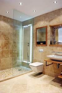 Photo Salle De Bain Moderne : salle de bain travertin moderne ~ Premium-room.com Idées de Décoration