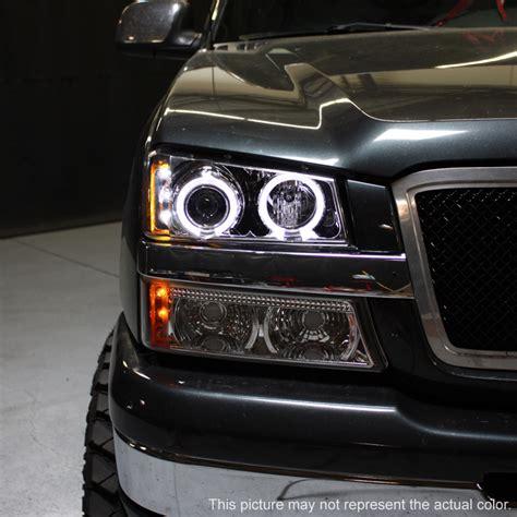 2004 chevy silverado halo lights 03 06 silverado dual halo projector led headlights led