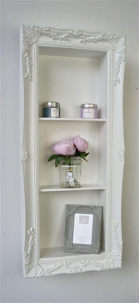 white shabby chic shelves l edge shabby chic vintage frame shelf