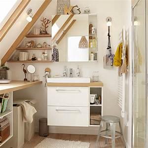 Miroir Salle De Bain Rangement : optimiser l espace d une petite salle de bains c 39 est facile marie claire ~ Teatrodelosmanantiales.com Idées de Décoration