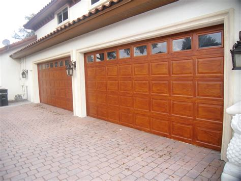 wood grain garage doors faux finish decorative