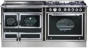Plaque Gaz Et Electrique : piano de cuisson bois gaz et lectrique 190cm avec 2 fours et plaque de cuisson ~ Nature-et-papiers.com Idées de Décoration