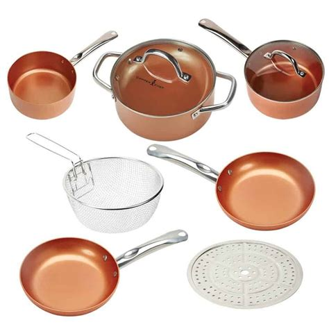 copper chef cookware pan vs round