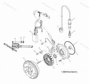 Polaris Atv 2005 Oem Parts Diagram For Magneto   Ac  Ag  Ah