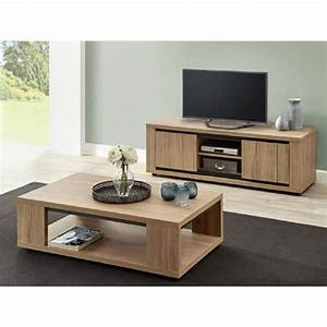 kirsten ensemble table basse et meuble tv prix pas With ensemble meuble tv et table basse
