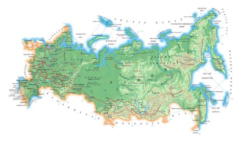 maps  russia detailed map  russia  cities