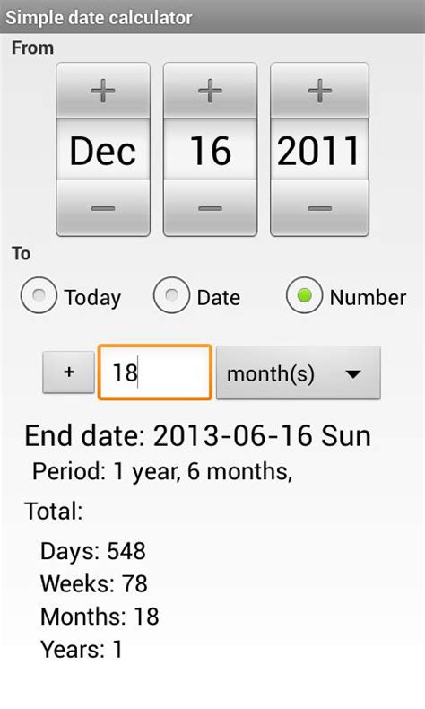 simple date calculator android apps google play