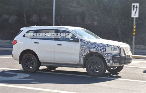2020 Ford Bronco Prototype Spotted With Everest Body