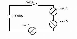 drawn cub wire pencil and in color drawn cub wire With of electrical circuits with straight lines to show the wires the