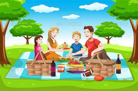 family picnic family cartoon picnic pictures family picnic