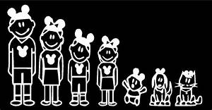 Disney Family Stick People Car Decals Stickers