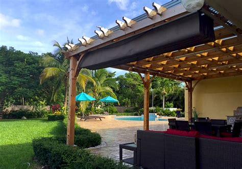 pergola retractable canopy kit custom size pergola retractable canopy kit outdoor living today