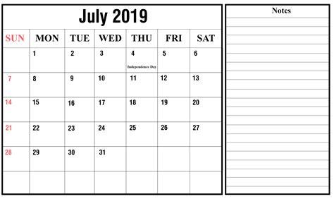 july  printable calendar template