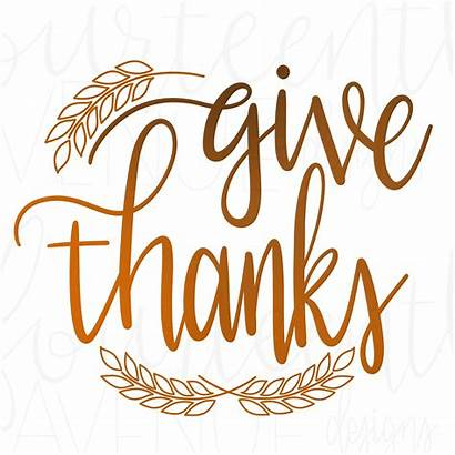 Thanks Clipart Giving Give Svg Thanksgiving Hand