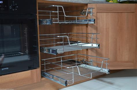 Wire Storage Baskets For Kitchen Cupboards by Pull Out Wire Baskets Kitchen Larder Base Unit Cupboard