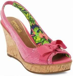 Sperry Top sider Southsea Platform Wedge Sandals in Pink