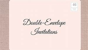 how to address wedding invitations southern living With wedding invitations with double envelopes