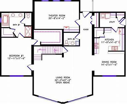 Loft Floor Plan Plans Chalet Frame Cabin