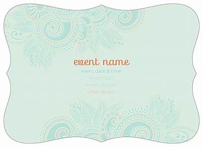 Invitation Card Templates Template Cards Easy Paisley