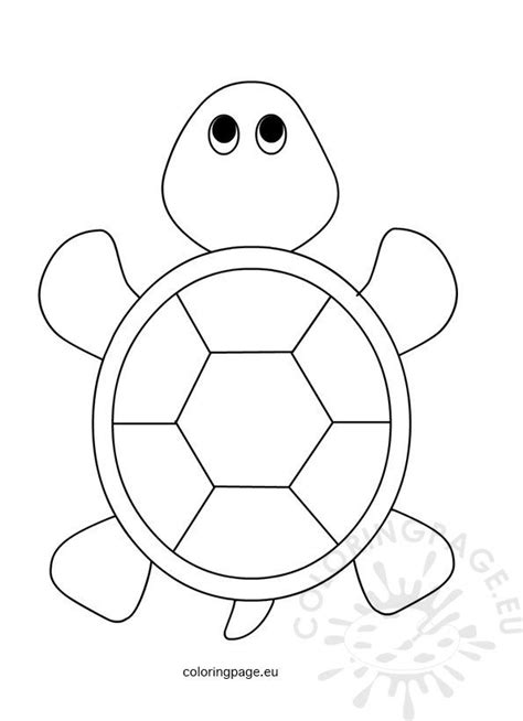 sea turtle  kids coloring page