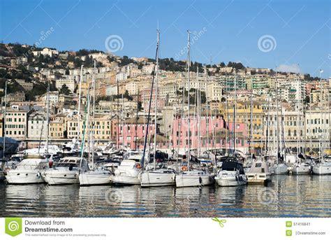 le port dans la ville de g 234 nes italie photo 233 ditorial image 51416841