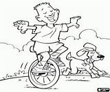 Unicycle Coloring Games Child Printable sketch template