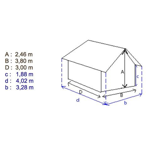 abri de jardin bois trait 233 11 4m2 28mm aet2334 bricozor