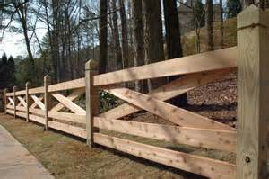 Wooden Rail Fence Designs