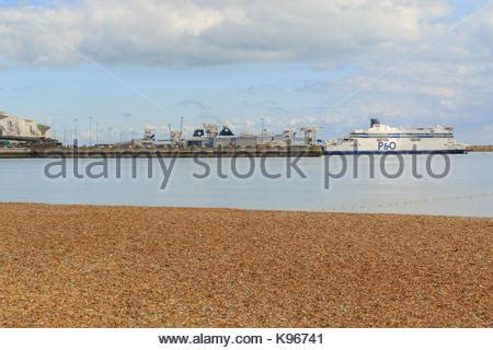 Dover. The port of Dover showing the harbour harbor Kent ...
