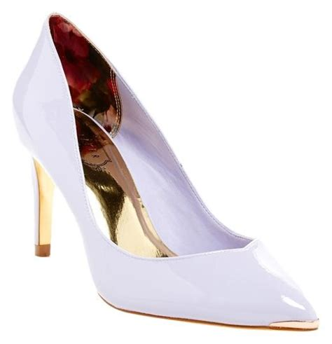 Light Purple Heels by Ted Baker Moniirra Classic Light Patent Leather Heels Size