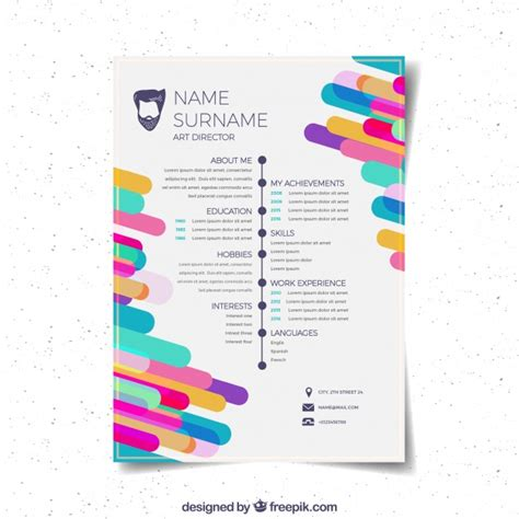 Templates De Curriculo Para Download by Flat Curriculum Vitae Template Vector Free Download