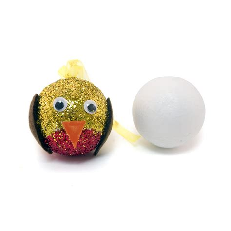 decorate polystyrene christmas baubles