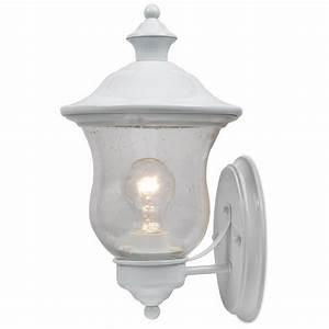 jacob 1 light 1375quot white outdoor wall light at menardsr With outdoor lighting fixtures at menards