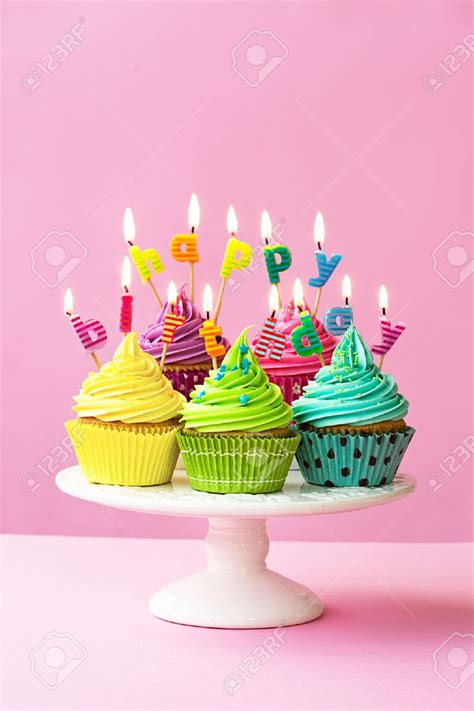 Birthday Cupcake Images Happy Birthday Cupcakes Stock Photo Getty Images