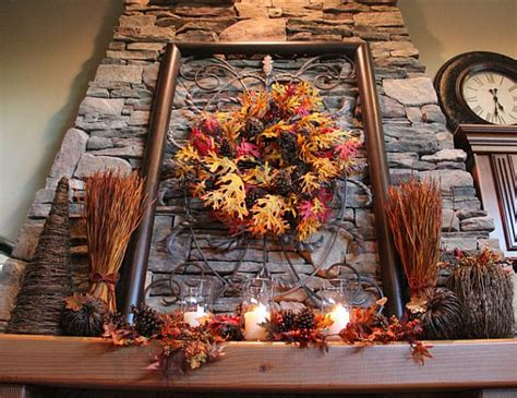fall leaves in home décor